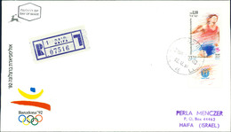 Israel FDC 1991, Olympische Sommerspiele 1992, Barcelona, Olympics, Olympiade, Michel 1207 (3-45) - FDC