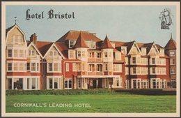 Hotel Bristol, Narrowcliff, Newquay, Cornwall, C.1960s - Photo Litho Postcard - Newquay