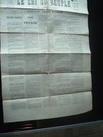 JOURNAUX  Journal  Le Cri Du Peuple Commune De Paris N 62  2 Mai 1871 Original 2scans - 1850 - 1899