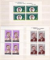 Colonies Francaises Serie Président J.f. Kennedy 1964 Blocs Feuillets10 Valeurs Neuf** - France (ex-colonies & Protectorats)