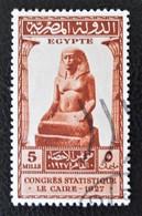 ROYAUME - CONGRES DE STATISTIQUE 1927 - OBLITERE - YT 131 - MI 138 - Egypt
