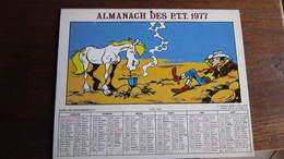 LUCKY LUKE  ALMANACH DES PTT 1977 MORRIS - Lucky Luke
