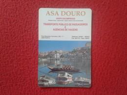 CALENDARIO DE BOLSILLO MANO PORTUGAL PORTUGUESE CALENDAR 1991 ASA DOURO TRANSPORTE PÚBLICO DE PASSAGEIROS VIAGENS... VER - Calendari
