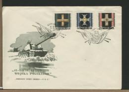 POLSKA - FDC - MEDAGLIA VALOR MILITARE - Flag - Bandiera - FDC