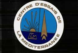Autocollant    Centre D'Essais De La Méditerrannée - Autocollants