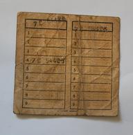 Carte De Voyage Bus De La C.G.I.T De LILLE  Coll Schnabel - Season Ticket