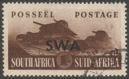 South West Africa. 1941-43 War Effort. 1/- Used. SG 122 - South West Africa (1923-1990)