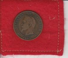 Napoléon III . 10 Centimes  1865  A.  Paris - Second  Empire  ..état Tb - France