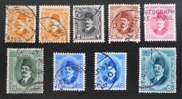 ROYAUME - ROI FOUAD 1ER 1927/32 - OBLITERES - YT 118/19 + 122 + 123a + 124 + 125/26 - Egypt