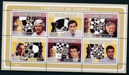 D- [400786] **/Mnh-Guiné-Bissau 2008 - Champions D'échecs, Personnalitées - Echecs