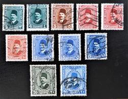 ROYAUME - ROI FOUAD 1ER 1927/32 - OBLITERES - YT 120/20A + 122/23a + 124/25a - Egypt