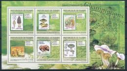 D- [400837] **/Mnh-Guinée 2009 - BL4522/4527, Champignons, Flore - Champignons