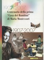 """2007 Italia, Folder  """" Maria Montessori """" Al Prezzo Di Copertina - 6. 1946-.. Republik"""