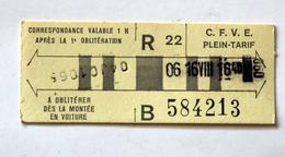 Billet Cartonné C.F.V.E St Etienne  Coll Schnabel - Bus