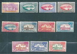 Colonie, Guadeloupe Timbres De 1939/40 Série Complète Neufs * 1 Timbre Oblitéré N°147 A 157 - Guadeloupe (1884-1947)