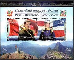 Peru 2018 ** Conjunta Con R. Dominicana. R. Castilla. G. Luperon. Masonería. - Peru