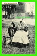 FANTAISIES - PEASANT WOMAN SPINNING - GEORGE D. CROKER = - Femmes
