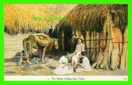 HABANA, CUBA - THE BABIES FEEDING TIME - ANIMATED -  PUB. BY HARRIS BROS CO - - Cuba