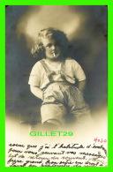 PORTRAIT D'ENFANT - PETIT GARÇON FUMANT LA CIGARETTE - CIRCULANT EN 1913 -  P. R. - - Portraits