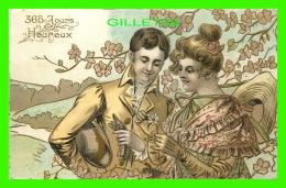 COUPLES - 365 JOURS HEUREUX - ON EFFEUILLE LA MARGUERITE -  EMBOSSÉE - ÉCRITE - - Couples