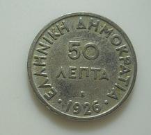 Greece 50 Lepta 1926 B - Grèce