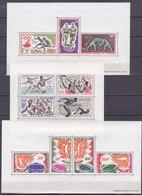 Colonies Francaises Serie Jeux Olympiques De Tokyo 1964 Blocs Feuillets 9 Valeurs Neuf** - France (former Colonies & Protectorates)