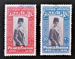 ROYAUME - PRINCE FAROUK 1929 - OBLITERES - YT 137 + 139 - MI 145 + 147 - Egypt