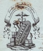 Lettre 1851 Paris Galibert Caoutchouc Rue Saint Martin Pour Réalmont Tarn Natural Rubber - 1849-1876: Classic Period