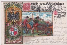 ALLEMAGNE . KRONBERG AmTAUNUS 1398-1898 Gruesse Vom 500 Jaehrigen Jubilaeums Schieszen Der Schübengesellschaft - Kronberg