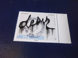 5202   TIMBRE   OBLITERATION CHOISIE  SUR TIMBRE NEUF MESSAGER - France