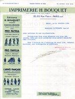 PARIS.IMPRIMERIE & EDITIONS H.BOUQUET 83,85 RUE MANIN. - Imprimerie & Papeterie