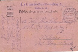Feldpostkarte - K.u.k. Schweres Feldartillerieregiment Nr. 3 - 1917 (34609) - 1850-1918 Empire
