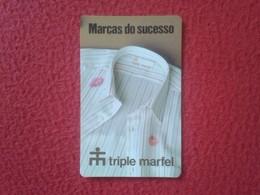 CALENDARIO DE BOLSILLO MANO PORTUGAL PORTUGUESE CALENDAR 1991 MARCAS DO SUCESSO TRIPLE MARFEL CONFECÇOES TEXTIL VER FOTO - Calendarios