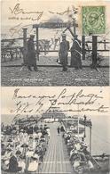 Angleterre - WORTHING - PIER BEFORE AND AFTER THE STORM 1913- LA Jetée Avant Et Après La Tempête- Photo HORACE  NICHOLLS - Worthing