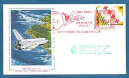 AFFRANCATURA MECCANICA ROSSA 1981 SPACE SHUTTLE ATTERRAGGIO DEL COLUMBIA SPAZIO NASA - Machine Stamps (ATM)