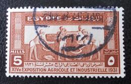 ROYAUME - 14 EME EXPO AGRICOLE ET INDUSTRIELLE AU CAIRE 1931 - OBLITERE - YT 141 - Egypt