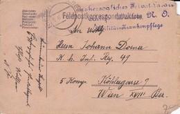 Feldpostkarte - Erzherzogliches Privat-Lazarett Schloß Waldsee N.Ö. Militär-Krankenpflege - 1917 (34611) - 1850-1918 Imperium