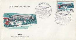 Enveloppe  FDC  1er  Jour  POLYNESIE     MAEVA    1969 - FDC