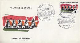Enveloppe  FDC  1er  Jour   POLYNESIE     Résidence  Du  Gouverneur    1969 - FDC