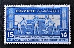 ROYAUME - 14 EME EXPO AGRICOLE ET INDUSTRIELLE AU CAIRE 1931 - OBLITERE - YT 143 - Egypt