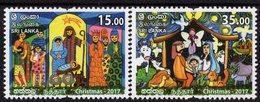 Sri Lanka - 2017 - Christmas - Mint Stamp Set - Sri Lanka (Ceylon) (1948-...)