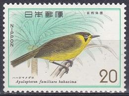Japan 1975 Tiere Fauna Animals Vögel Birds Oiseaux Pajaro Uccelli Honigfresser Honeyeater Naturschutz, Mi. 1263 ** - 1926-89 Kaiser Hirohito (Showa Era)