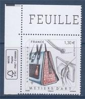 = Métiers D'art N°5209 Maroquinier, Sacs Et Ustensiles De Couture Et Travail Du Cuir, Coin De Feuille Et Logo éco - France