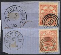 Danemark (1864) N 13 (o) (2 Cachets Differents) - 1864-04 (Christian IX)