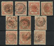 Danemark (1864) N 13 (o) (Cachets Divers) - Usati