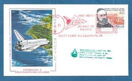 AFF. MECCANICA ROSSA 1981 SPACE SHUTTLE ATTERRAGGIO DEL COLUMBIA SPAZIO NASA COMBONI - Covers & Documents