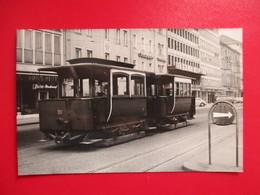 PHOTO TRAMWAYS D'INNSBRUCK AUTRICHE REMORQUES  SUBURBAINES  PHOTO M.GEIGER - Eisenbahnen