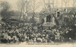 CP BEAUTOUR BENEDICTION DU CALVAIRE 12 AVRIL 1914 - CARTE ENDOMAGEE - Guerre 1914-18