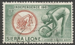 Sierra Leone. 1961 Independence. 1d Used. SG 224 - Sierra Leone (1961-...)
