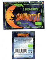 Étiquettes Bière Slaapmutske Bio-tripel 33 Cl, Alc 8 % Vol (2018) + Back (Bière Belge, Melle) - Bière